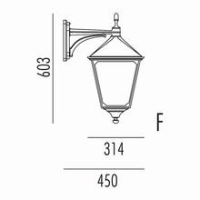 Classic Udendørs Væglampe Model F fra Noral