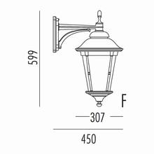 Park Udendørs Væglampe Model F fra Noral