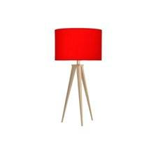 Paso Bordlampe Eg med rød skærm - Darø