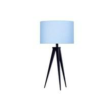Paso Bordlampe Sort med blå skærm - Darø
