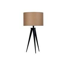 Paso Bordlampe Sort med brun - Darø skærm