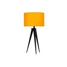 Paso Bordlampe Sort med gul skærm - Darø