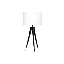 Paso Bordlampe Sort med hvid skærm - Darø