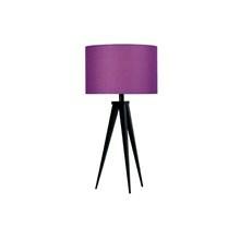 Paso Bordlampe Sort med lilla skærm - Darø
