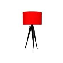 Paso Bordlampe Sort med rød skærm - Darø
