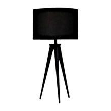 Paso Bordlampe Sort med sort skærm - Darø