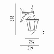 Regent Udendørs Væglampe Model F fra Noral