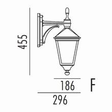 Torino Udendørs Væglampe Model F fra Noral