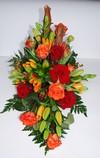 Båredekoration i orange røde farver