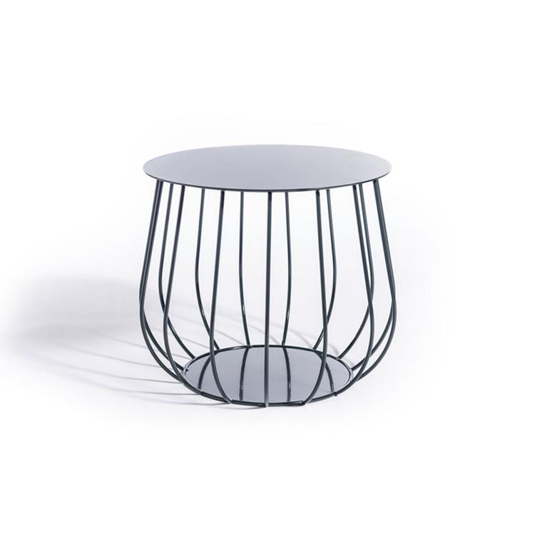 Skargaarden Resö Lounge Table Straight Bars Charcoal Grey