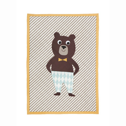 Ferm Living Bear Quiltet Blanket