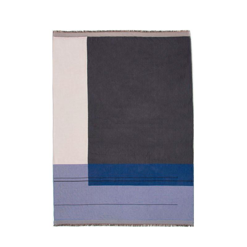 Ferm Living Colour Block Plaid Blå – pris 799.00