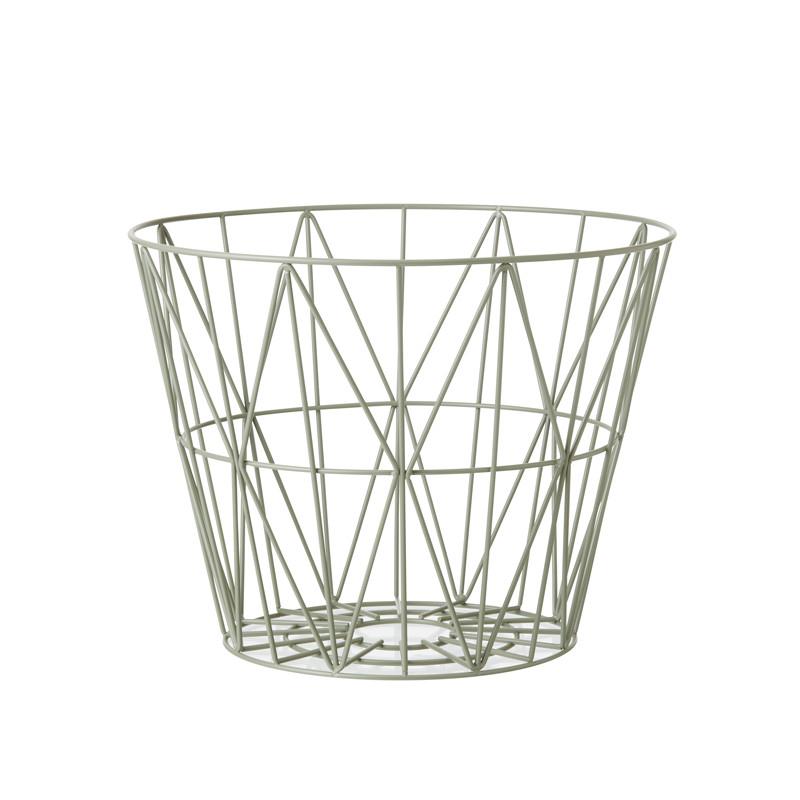 Ferm Living Wire Basket Støvet Grøn – pris 399.00