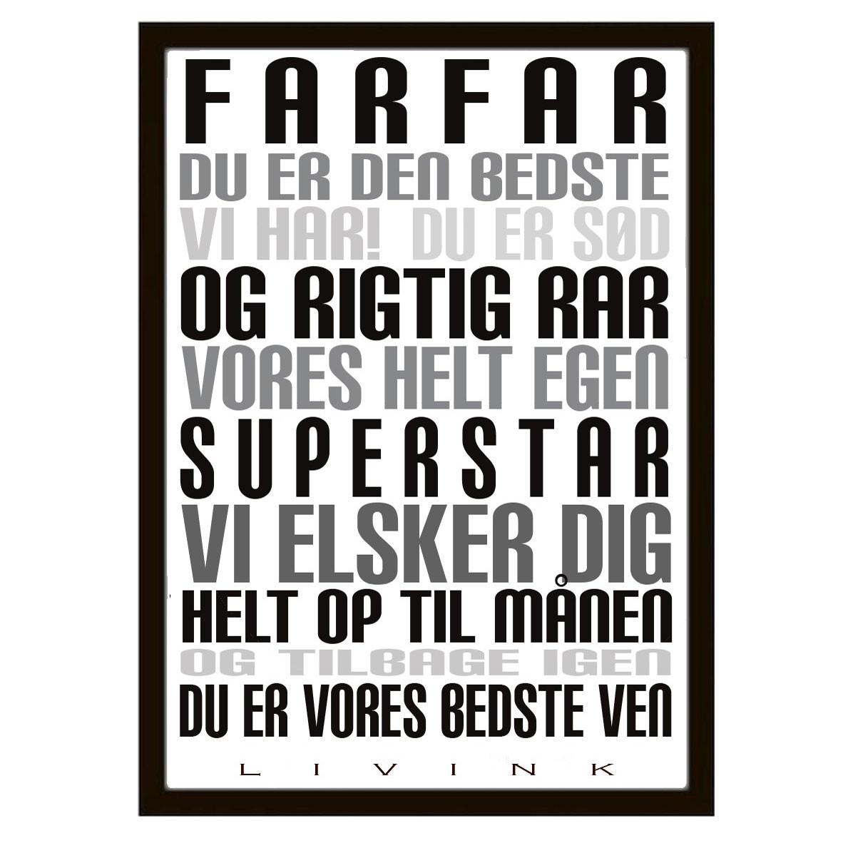 Livink Farfar Plakat – pris 199.00