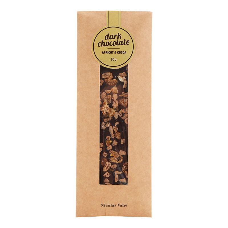 Nicolas Vahé Mørk Chokolade med Abrikos & Kakao – pris 32.00