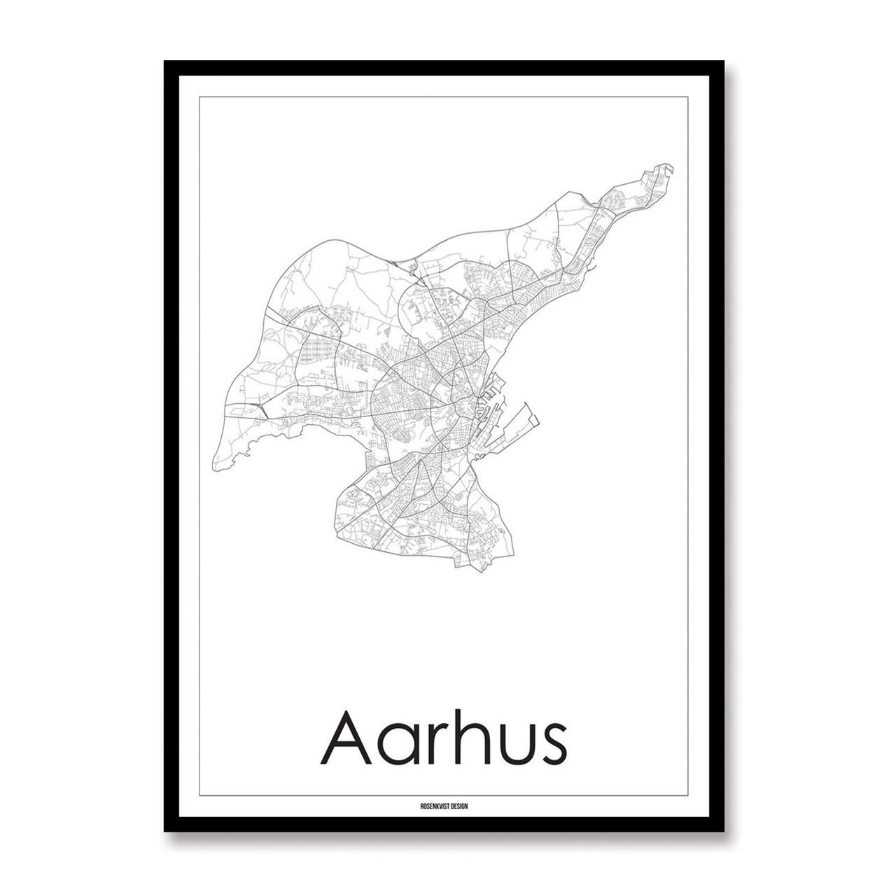 Rosenkvist Design Aarhus Plakat – pris 299.00