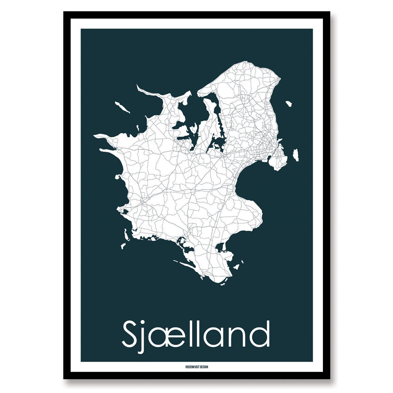 Rosenkvist Design Sjælland Plakat – pris 299.00