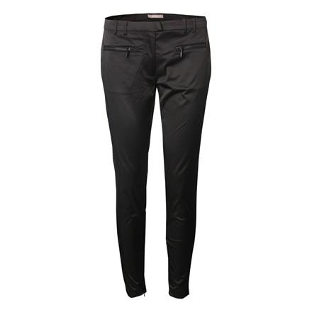 GUSTAV BUKSER - 17006 SHINY STRECH PANTS BLACK