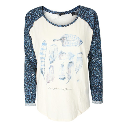 MAISON SCOTCH BLUSE - 50894 LONG SLEEVE TEE BLÅ