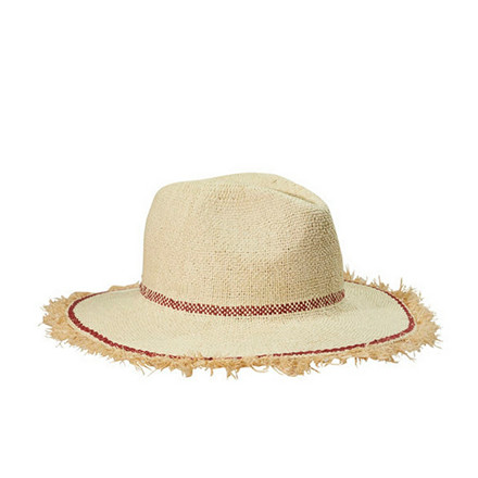 MAISON SCOTCH HAT - 72701 STRAW HAT RØD