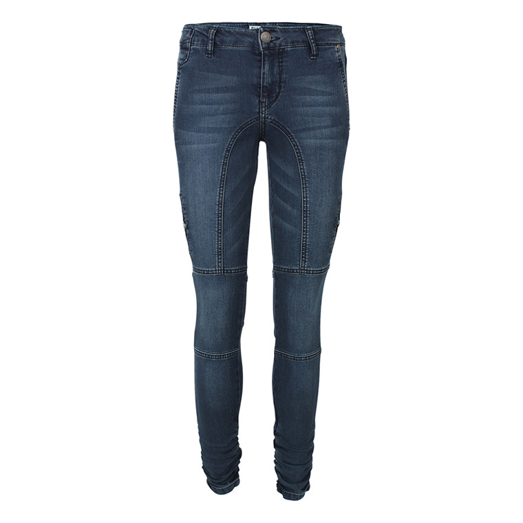 PULZ BUKSER - P94196A FAYLINN LONG BLUE DENIM