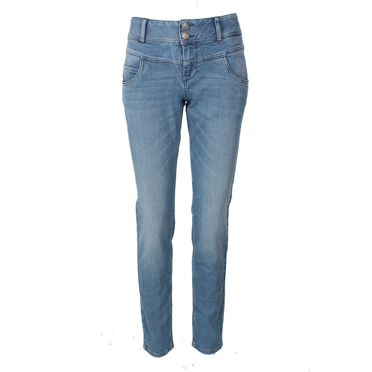 PULZ JEANS - P94306A HAYA SKINNY JEANS CURVED BLÅ