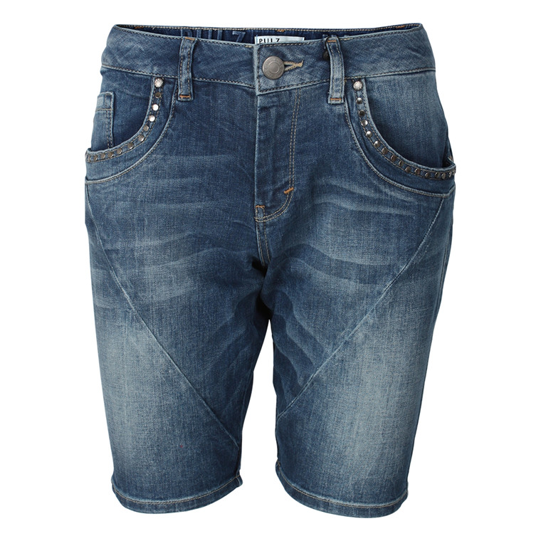 PULZ SHORTS - P94683A1901GD CHILLY BLÅ