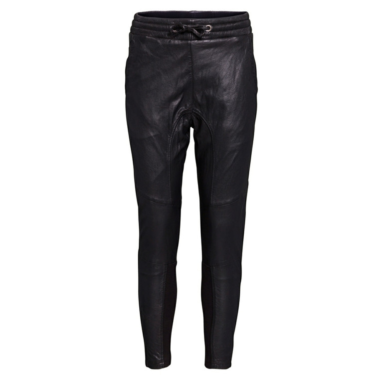 MOS MOSH SKINDBUKSER - #7 LEATHER SWEATPANT SORT