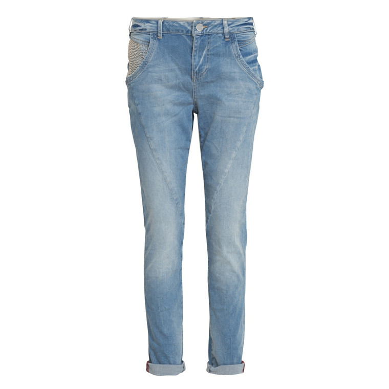 MOS MOSH BUKSER - LINTON LIGHT BLUE DENIM
