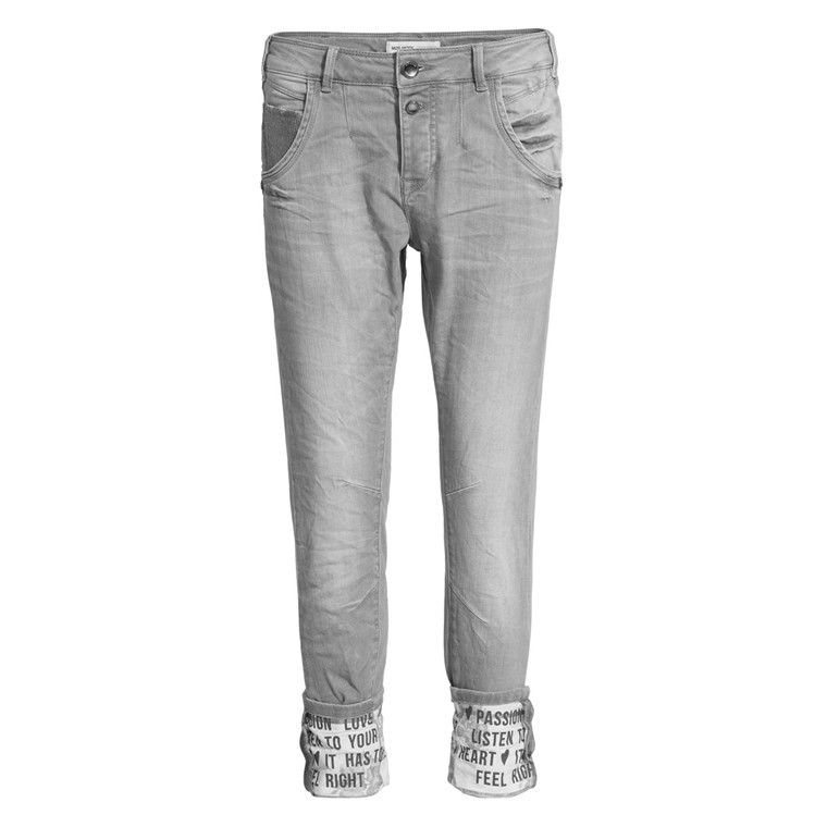 MOS MOSH JEANS - JAIME TURN-UP GREY