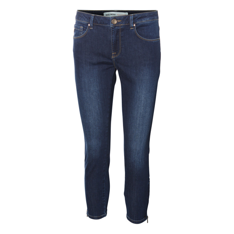 MOS MOSH 7/8 BUKSER - DUFFY BARK BLUE DENIM