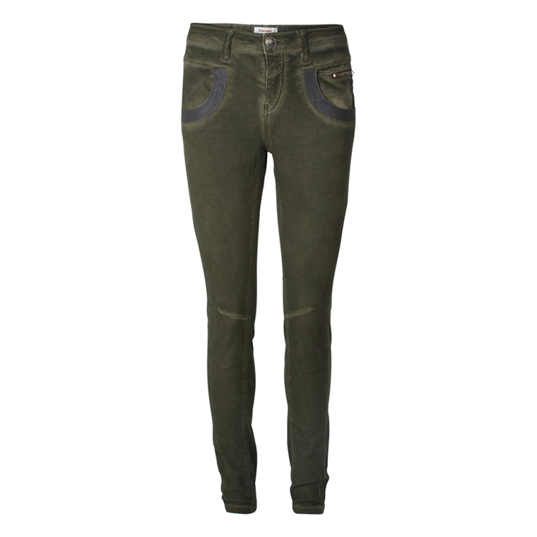 MOS MOSH JEANS - NAOMI GLAM OIL GREEN