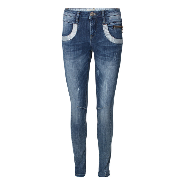 MOS MOSH JEANS - NAOMI GLAM LIGHT BLUE DENIM