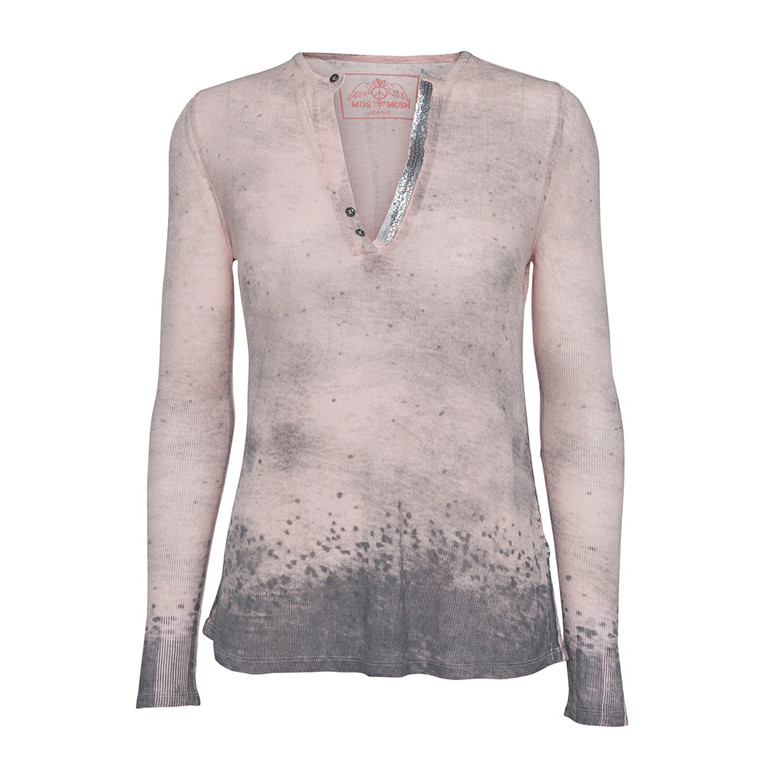 MOS MOSH BLUSE - NORA PLACKET ROSE