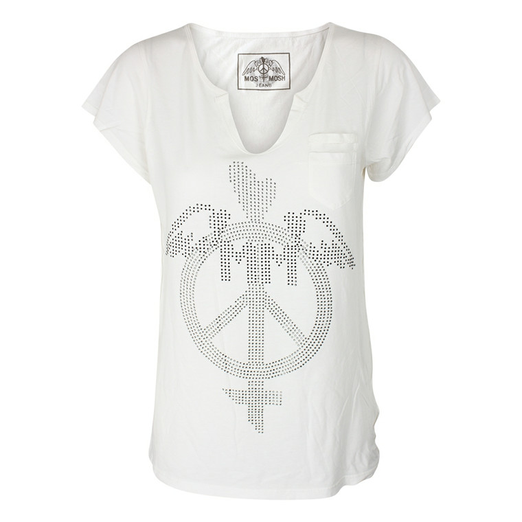 MOS MSOH T-SHIRT - CINDY STRASS HVID