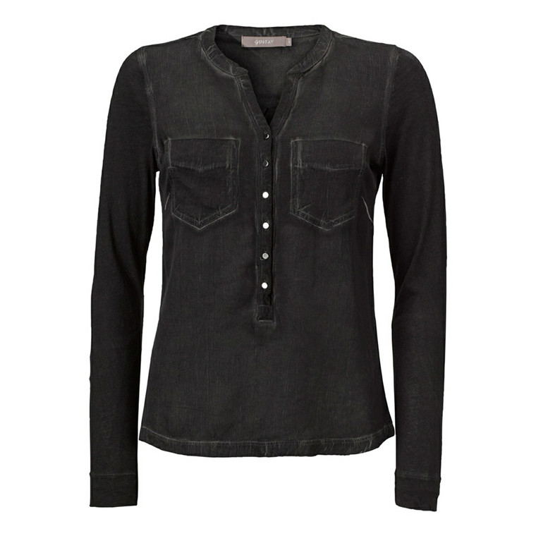 GUSTAV BLUSE - 12717 CASUAL DYED SHIRT SORT