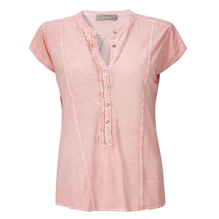 GUSTAV BLUSE - 15722 JERSEY SHIRT CORAL