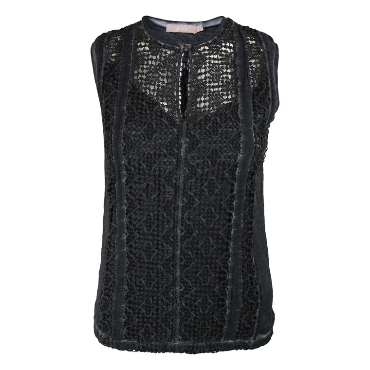 GUSTAV TOP - 12714 LACE BLÅ