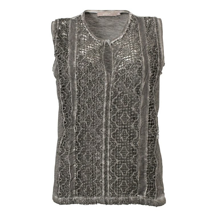 GUSTAV TOP - 12714 LACE GRÅ