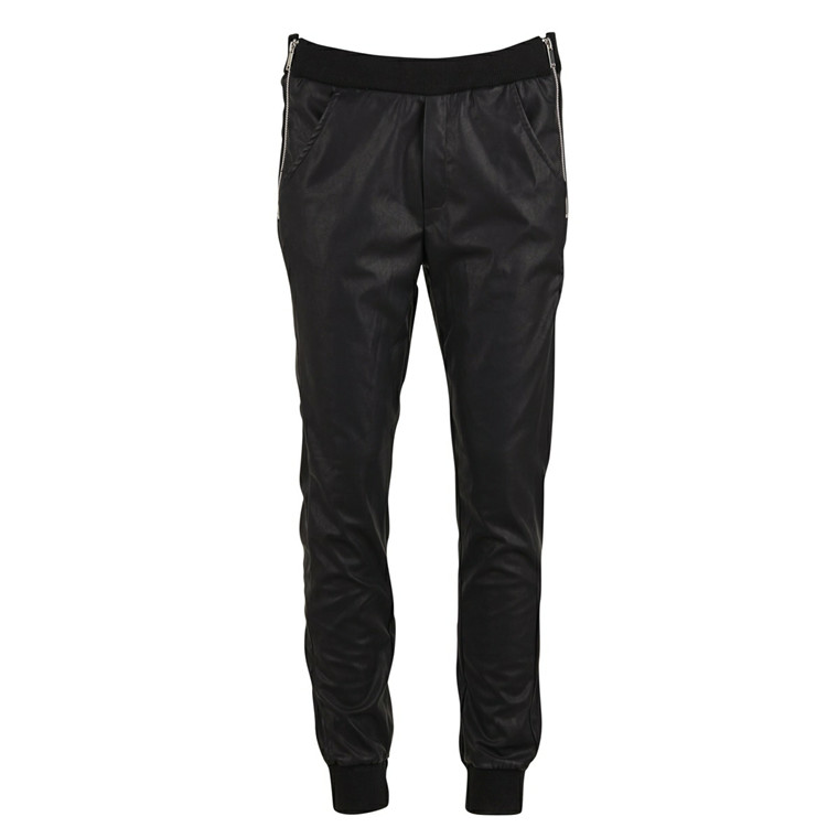 SAINT TROPEZ BUKSER - M5030 PANTS WITH RIB & ZIPPER SORT