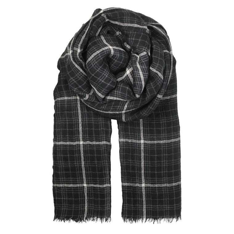 BECKSÖNDERGAARD TØRKLÆDE - L-WINTER CHECK BLACK