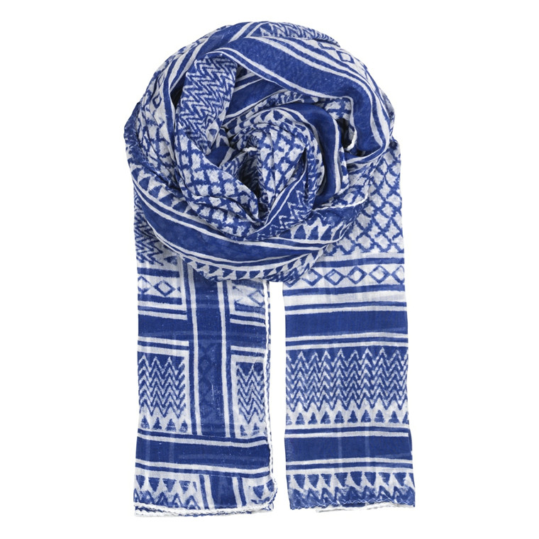 BECK SÖNDERGAARD TØRKLÆDE - P-PAN SCARF FLASH BLUE