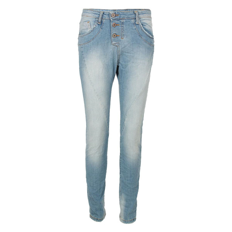 PLEASE JEANS - P78ABS015 LYS DENIM BLÅ