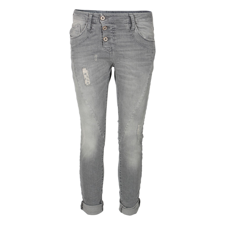 PLEASE JEANS - P78ACO0SO 3 KNAP LYS GRÅ
