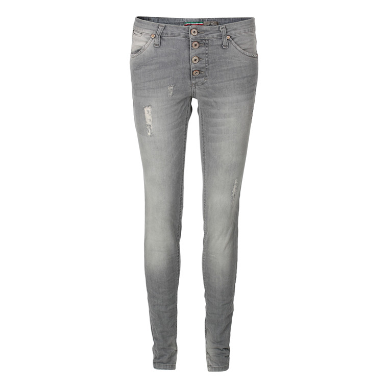 PLEASE JEANS - P90CCO0SO 4 KNAP LYS GRÅ