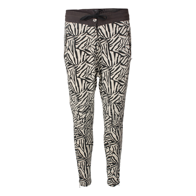 MAISON SCOTCH BUKSER - 83861 ZEBRA PANTS CREME