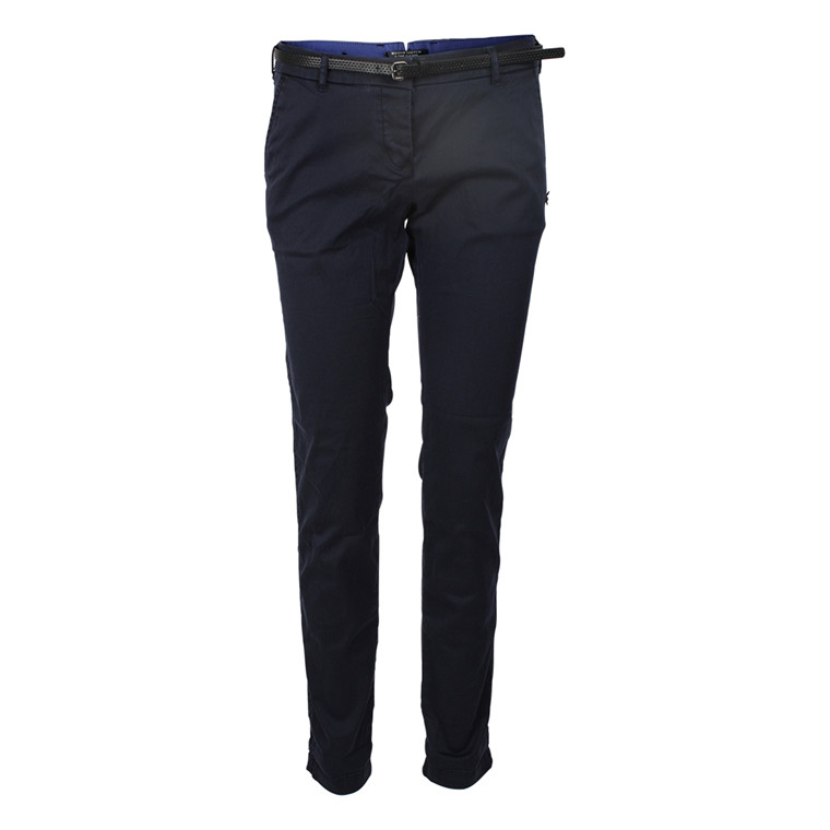 MAISON SCOTCH BUKSER - 80818 DOUBLE FACED CHINO BLÅ