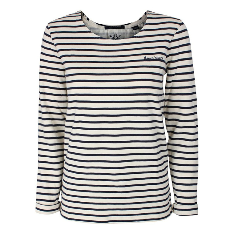 MAISON SCOTCH BLUSE - 50662 BRETON STRIPE LONG SLEEVE