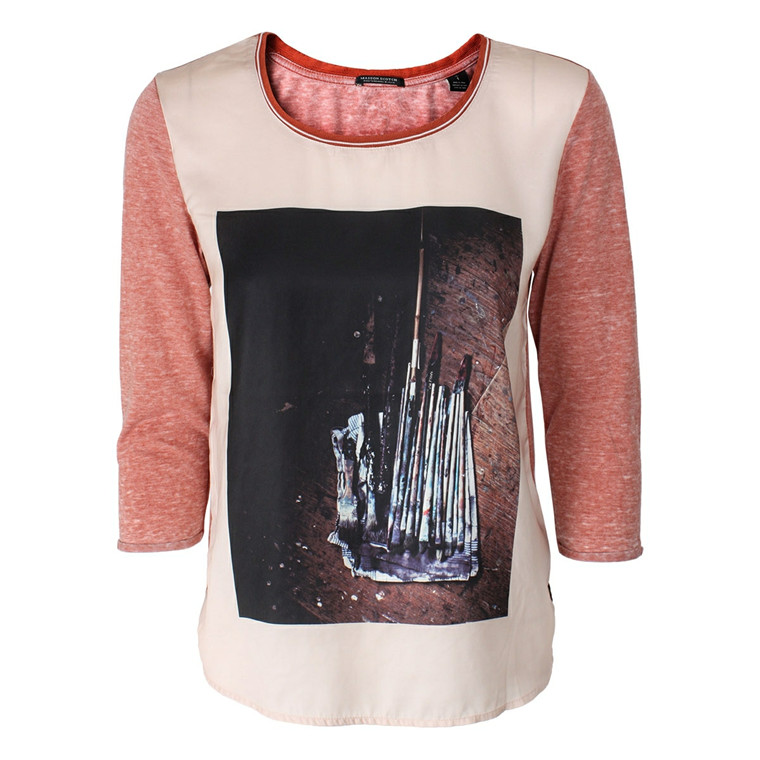 MAISON SCOTCH BLUSE - 50695 3/4 SLEEVE PHOTOPRINT PUDDER