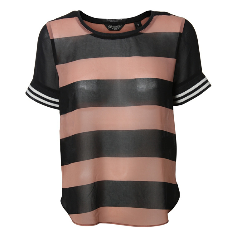MAISON SCOTCH T-SHIRT - 53707 SORT